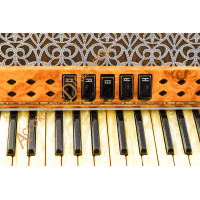 Beltuna Alpstar 34 key 96 bass musette piano accordion with helikon bass, olive wood.  MIDI options available.