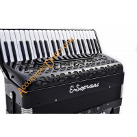 E. Soprani 4 voice 120 bass black piano accordion, MIDI options available