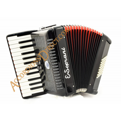 E. Soprani 26 key 48 bass black accordion, MIDI options available