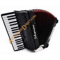 E. Soprani 34 key 72 bass black accordion, MIDI options available