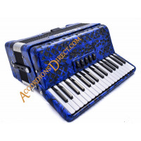 E. Soprani 34 key 72 bass blue accordion, MIDI options available