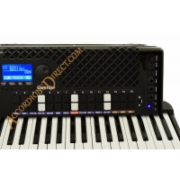 Gwerder 120 bass Black Reedless Accordion with rhythms