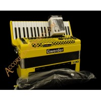 Gwerder 120 bass Yellow Reedless Accordion with rhythms