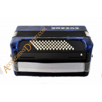Hohner Bravo 34 key 72 bass blue accordion, MIDI options available