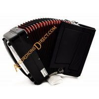 Moreschi 34 key 72 bass 3 voice black compact accordion.  Midi expansion option.