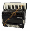 Moreschi Masterpiece IV 37 key 96 bass 4 voice black piano accordion with cassotto, double octave tuned, with MIDI.