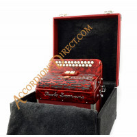 Paolo Soprani Elite B-C 2 row diatonic button accordion with MIDI.