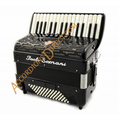 Paolo Soprani Professionale 30 key 72 bass piano accordion with MIDI.