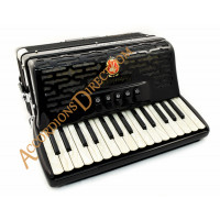 Paolo Soprani Professionale 30 key 3 voice 72 bass piano accordion.  Sound expansion options.