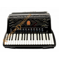 Paolo Soprani Super Paolo 37 key 96 bass 4 voice piano accordion, musette tuned cassotto & hand made reeds.  Sound expansion options.