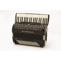 Scandalli Air I S 41 key 120 bass 4 voice black piano accordion. MIDI options available.