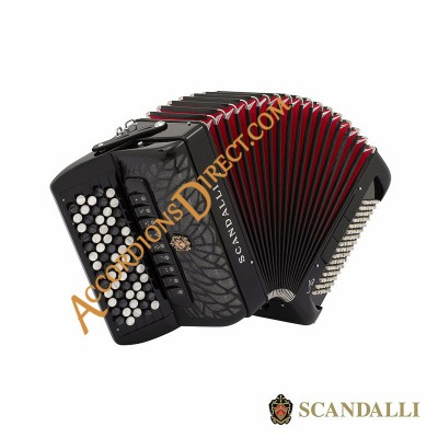 Scandalli Air Junior C Continental Chromatic C system accordion.  MIDI expansion available.