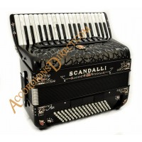 Scandalli Air I 37 key 96 bass 4 voice decorated accordion. Midi options available.