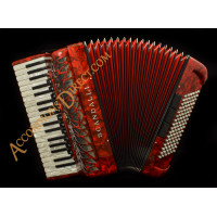 Scandalli Air I 37 key 96 bass 4 voice red accordion. Midi options available.
