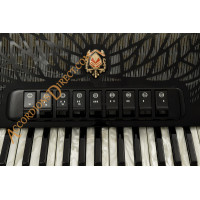 Scandalli Air II 34 key 96 bass 4 voice Tone Chamber black accordion.  Midi expansion available.