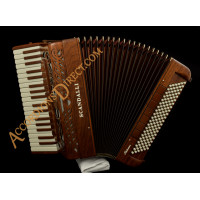 Scandalli Intense 37 Key 120 bass double tone chamber musette piano accordion in mahogany. MIDI options available.