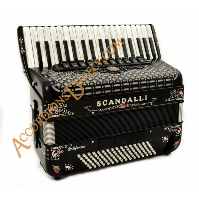 Scandalli Polifonico IX 37 key 96 bass decorated piano accordion. MIDI options available.