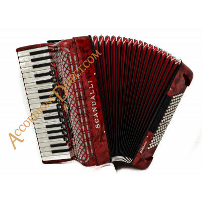 Scandalli Polifonico IX 37 key 96 bass 37 Key 96 bass red piano accordion. MIDI options available.
