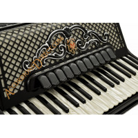 Scandalli Super VI Extreme 41 Key 120 bass double tone chamber piano accordion with artisan reeds and musette tuning. MIDI options available.