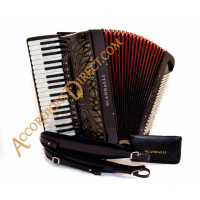 Scandalli Air I S 41 key 120 bass 4 voice black piano accordion with sparkle finish, Scottish musette. MIDI options available.