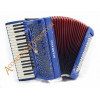 Scandalli Air III 37 key 120 bass 4 voice musette tuned blue cassotto piano accordion with sparkle finish.  Midi expansion available.