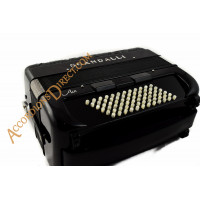 Scandalli Air 72 C Chromatic C system accordion.  MIDI expansion available.