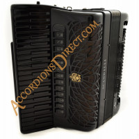 Scandalli Air IV 41 key 120 bass 4 voice double octave tuned all-black double tone chamber piano accordion. Midi options available.