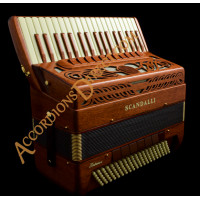 Scandalli Intense Air 37 Key 120 bass double tone chamber accordion in mahogany. Double octave tuned. MIDI options available.