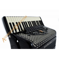 Scandalli Super VI Extreme 41 Key 120 bass double tone chamber piano accordion with artisan reeds, octave tuned. MIDI options available.