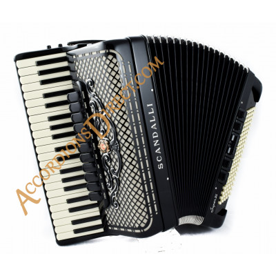 Scandalli Super VI Extreme 41 Key 120 bass double tone chamber piano accordion with artisan reeds. octave tuned. MIDI options available.