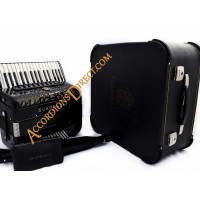 Scandalli Air 34 key 72 bass 4 voice black Scottish tuned accordion, MIDI options available