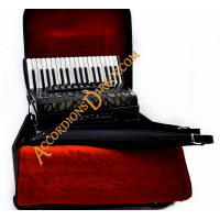 Scandalli Air 34 key 72 bass 4 voice black musette tuned accordion, MIDI options available