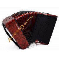 Scandalli Air 34 key 72 bass 4 voice red Scottish tuned accordion, MIDI options available