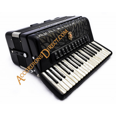 Scandalli Air I 37 key 96 bass 4 voice piano accordion with chin coupler for musette. Midi options available.