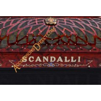 Scandalli Air III 37 key 120 bass 4 voice Scottish tuned Cassotto red decorated accordion.  Midi expansion available.