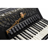 Scandalli Air IV 41 key 120 bass 4 voice Scottish tuned black double Tone Chamber accordion. Midi options available.