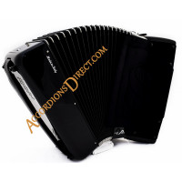 Scandalli Air IV 41 key 120 bass 4 voice musette tuned black double tone chamber accordion. Midi options available.