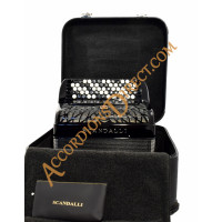 Scandalli Air Junior C Chromatic C system 96 bass accordion.  MIDI expansion available.