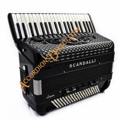 Scandalli Super L 41 Key 120 bass double tone chamber accordion. MIDI options available.